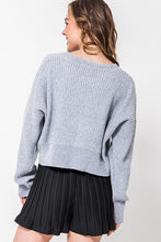 Load image into Gallery viewer, CALISTA GREY CHENILLE SWEATER