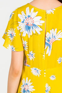TIFFANY FLORAL PRINT YELLOW ROMPER