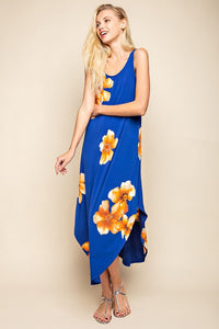 TAMMY FLORAL BLUE MAXI DRESS