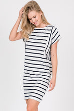 Load image into Gallery viewer, HAILEY OFF WHITE STRIPE DRESS