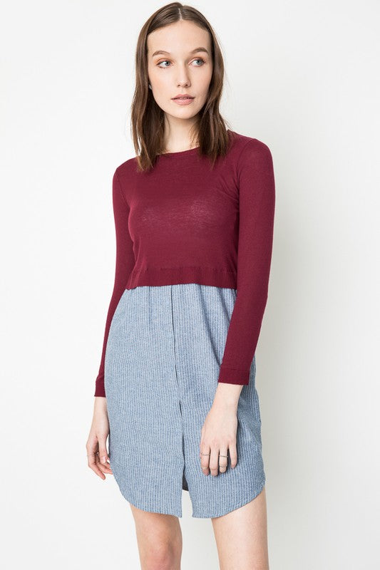 HOLLY PLUM SWEATER DRESS