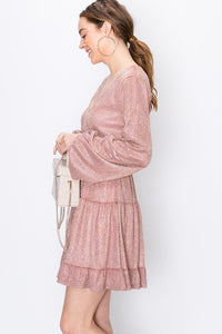 LOIS SPARKLE MAUVE DRESS