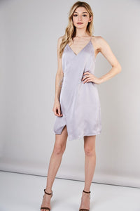 AURA SILVER WRAP DRESS