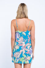 Load image into Gallery viewer, AMY BLUE FLORAL PRINT DRESS