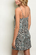Load image into Gallery viewer, MILO BLUE LEOPARD PRINT DRESS