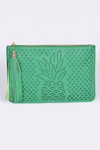 PINEAPPLE & TASSEL CLUTCH