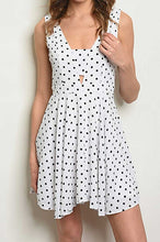 Load image into Gallery viewer, VICKY WHITE POLKA DOT DRESS