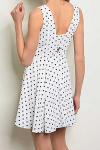 VICKY WHITE POLKA DOT DRESS