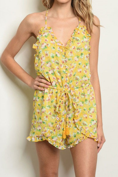 ARABELLA YELLOW FLORAL ROMPER