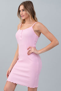 SARAH PINK RIBBED DRESS