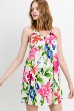 Load image into Gallery viewer, BONNIE OFF WHITE FLORAL DRESS