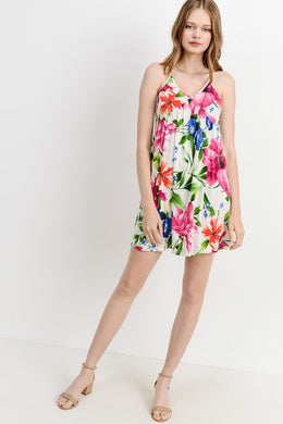 BONNIE OFF WHITE FLORAL DRESS