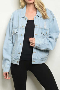 ELEANOR DISTRESSED BOYFRIEND DENIM JACKET