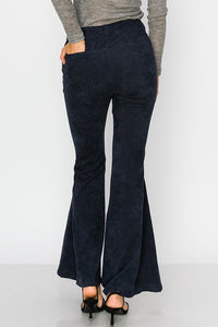 IRENE NAVY BELL BOTTOM CORDUROY PANTS