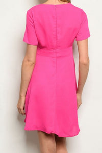 ALEXIS FUCHSIA DRESS