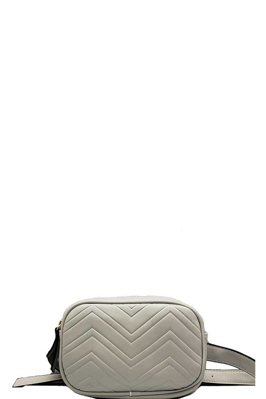MICA CHEVRON CROSSBODY OR WAIST CONVERTIBLE BAG