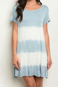 KAY BLUE & IVORY DRESS