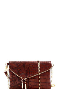 KATIE ASYMMETRICAL FLAP BAG