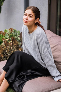 CALISTA GREY CHENILLE SWEATER