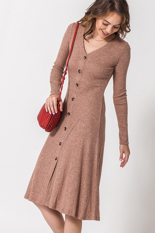 THELMA BROWN BUTTON DOWN DRESS