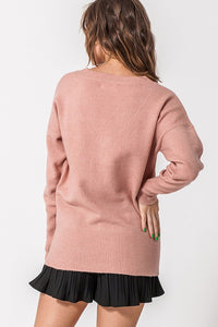 ANGEL DUSTY PINK SWEATER