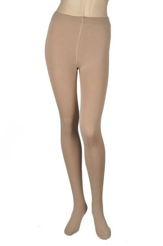 CARA BEIGE FLEECE TIGHTS