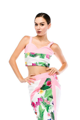 LUCA FLORAL CROP TOP & SKIRT SET