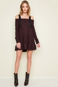 SKYE PLUM COLD SHOULDER DRESS