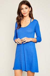 TILLY BLUE A LINE DRESS