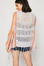 Load image into Gallery viewer, EVIE GREY & CORAL KNIT VEST