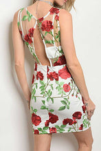 Load image into Gallery viewer, TANYA CROCHET MESH FLORAL DRESS