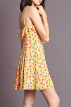 Load image into Gallery viewer, FINLEY YELLOW FLORAL DRESS