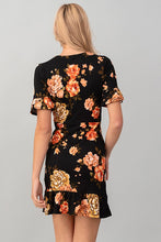 Load image into Gallery viewer, EVELYN BLACK FLORAL DRESS