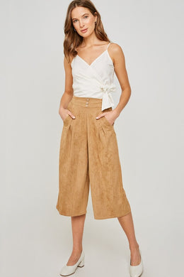 AMY TAN PLEATED CULOTTE PANT