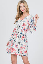 Load image into Gallery viewer, JANA FLORAL PRINT IVORY DRESS