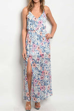 Load image into Gallery viewer, BRAELYN OFF WHITE FLORAL MAXI DRESS