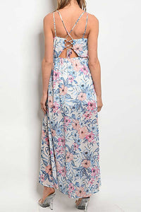 BRAELYN OFF WHITE FLORAL MAXI DRESS