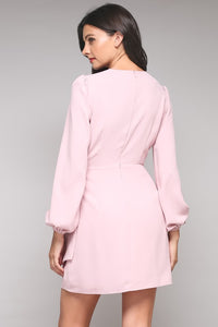 JANE BLUSH LIKE A ROSE TIE DRESS