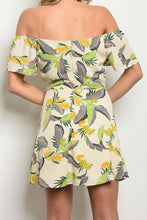 Load image into Gallery viewer, NATALIE TROPICAL OFF THE SHOULDER DRESS