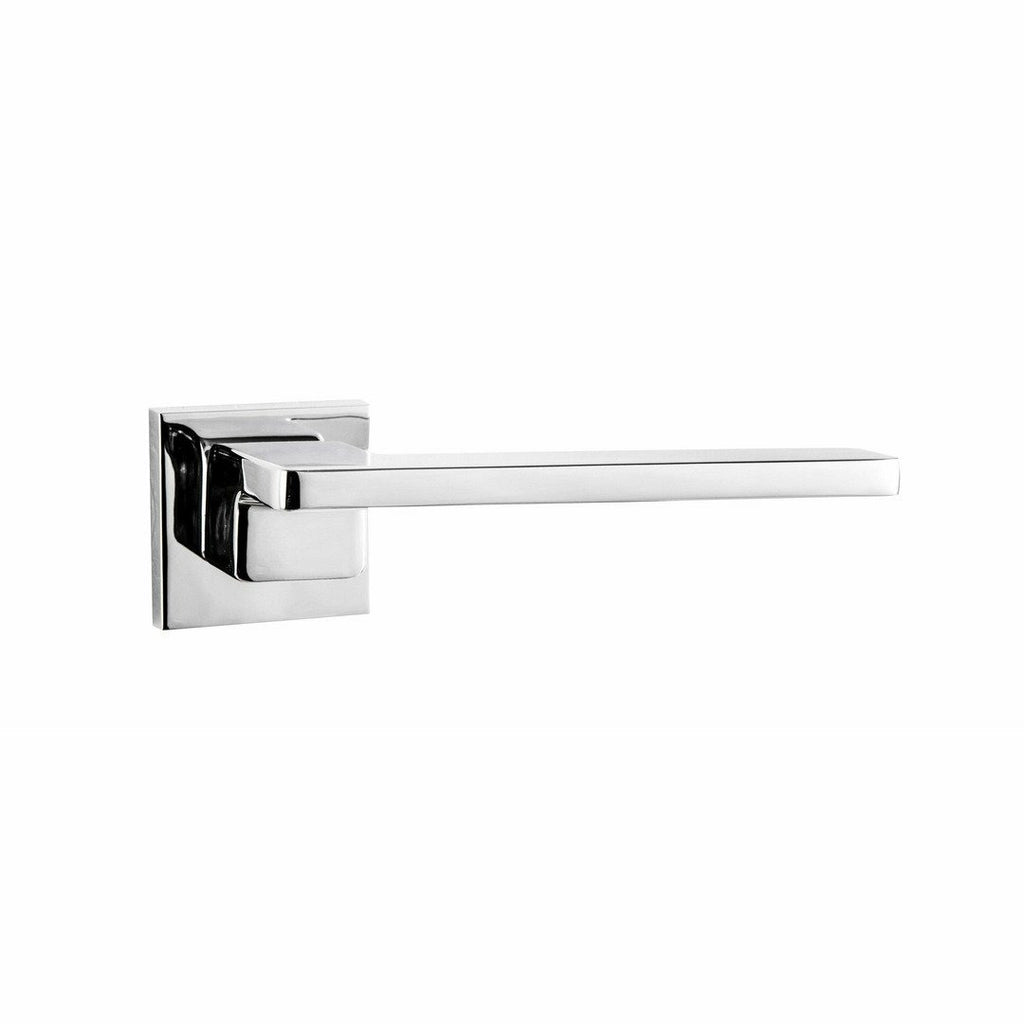 Slim lever handle on rose with step - Decor Handles