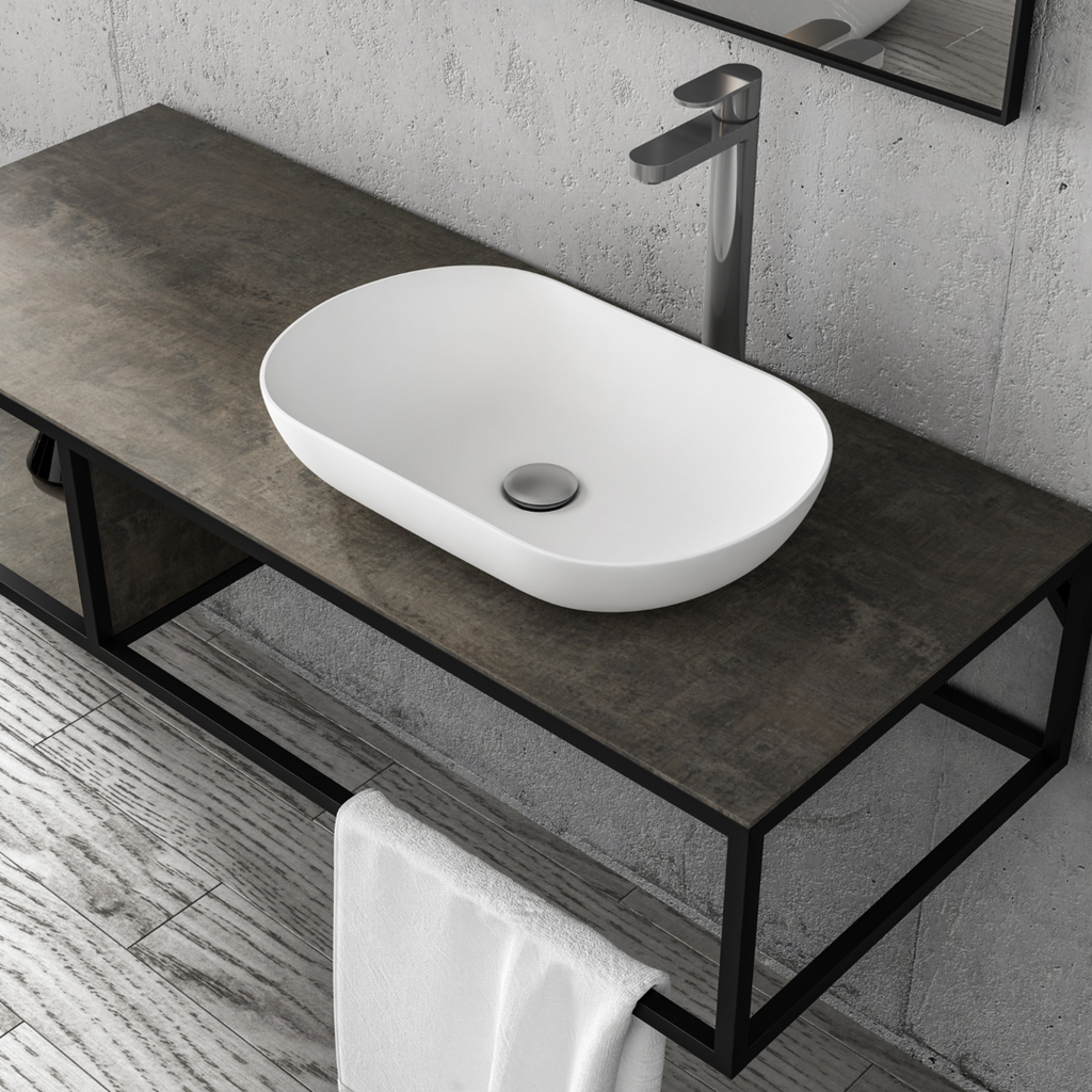 Picasso 1310mm Vanity Frame and Basin - Decor Handles