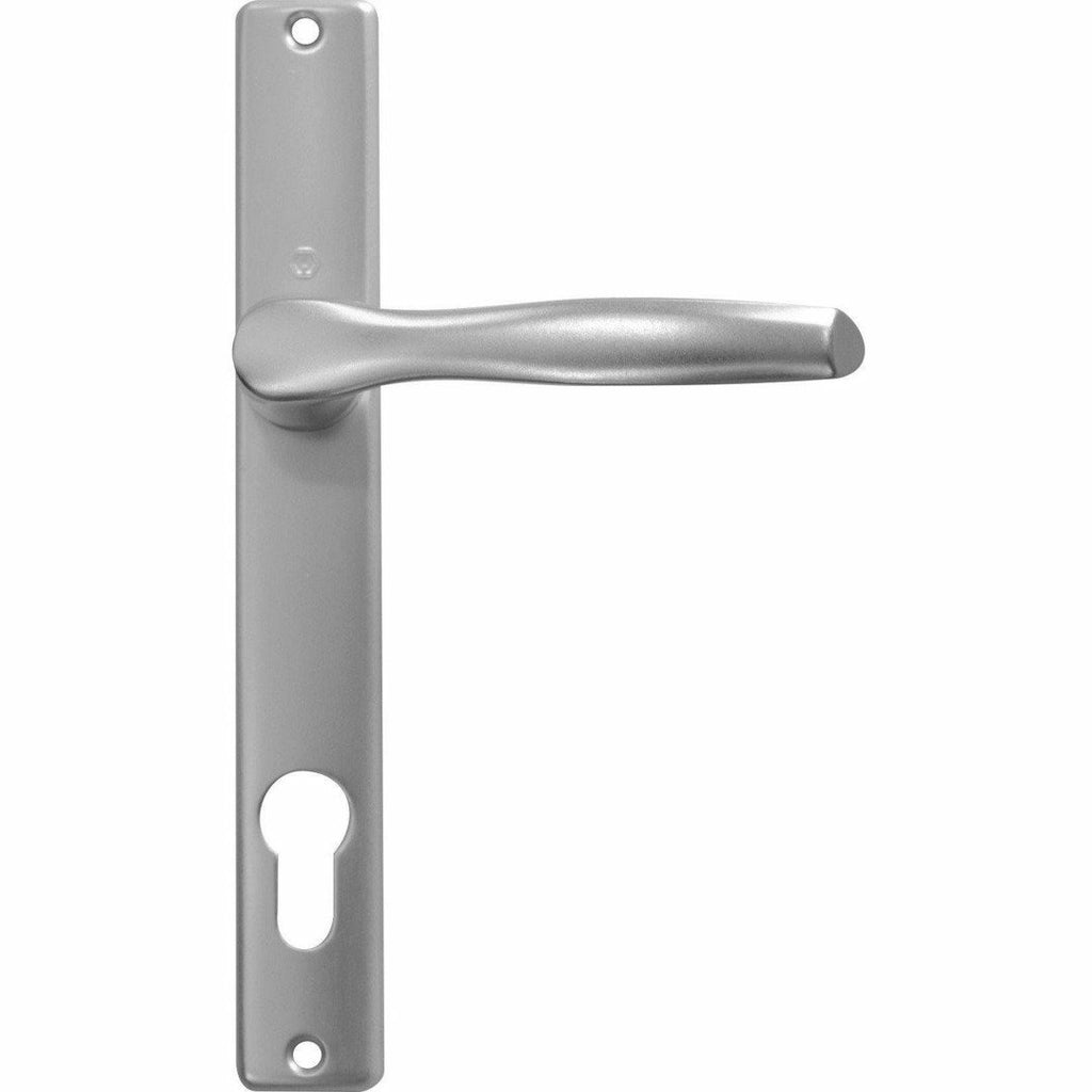 Aluminium Door Handles - On Narrow Back Plate - Decor Handles