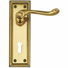 Load image into Gallery viewer, Georgian lever handle on plate - Decor Handles