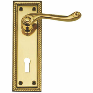 GEORGIAN LEVER HANDLE ON PLATE