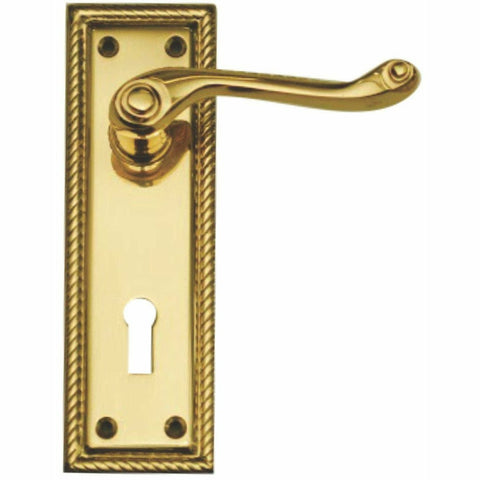 Georgian lever handle on plate - Decor Handles