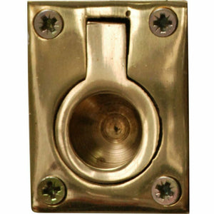 Solid brass flush pull out ring handle 50mmx38mm - Decor Handles