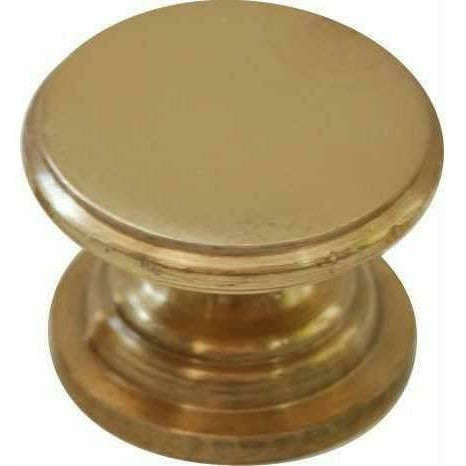 Flat knob solid brass - Decor Handles