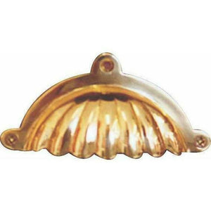 Solid brass shell shaped cup handle - Decor Handles
