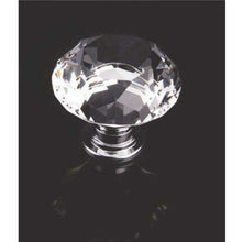 Load image into Gallery viewer, Diamond shape crystal knob with chrome base - Decor Handles