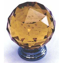 Load image into Gallery viewer, Amber crystal knob ball type - Decor Handles
